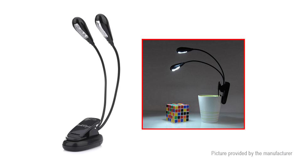 YouOKLight YK2220 Clip-On Dual Heads Desk Lamp