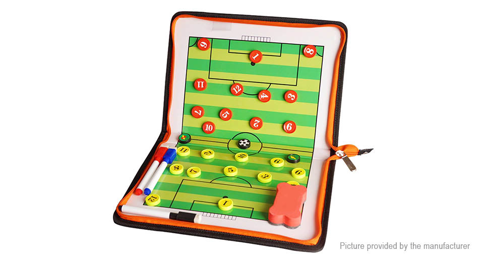 Folding Magnetic Piece Football Coach Board Tactical Plate