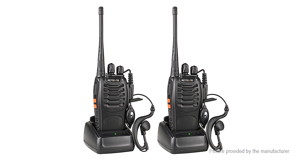 Authentic Retevis H777 Portable Two-Way Radio Walkie Talkie (2-Pack)