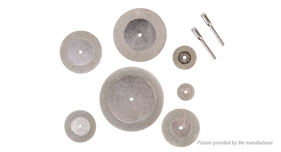DIY Electronics 8104700 Diamond Circular Saw Blade Cutting Discs Wheel Set for Rotary Tool (7-Pack)