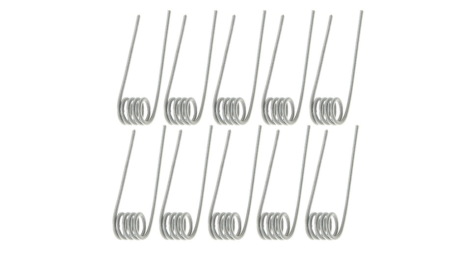 Kuken Tech Ni80 Clapton Coil Pre-coiled Wire (10-Pack) Ni80, Clapton, 26/36 AWG, 10-Pack