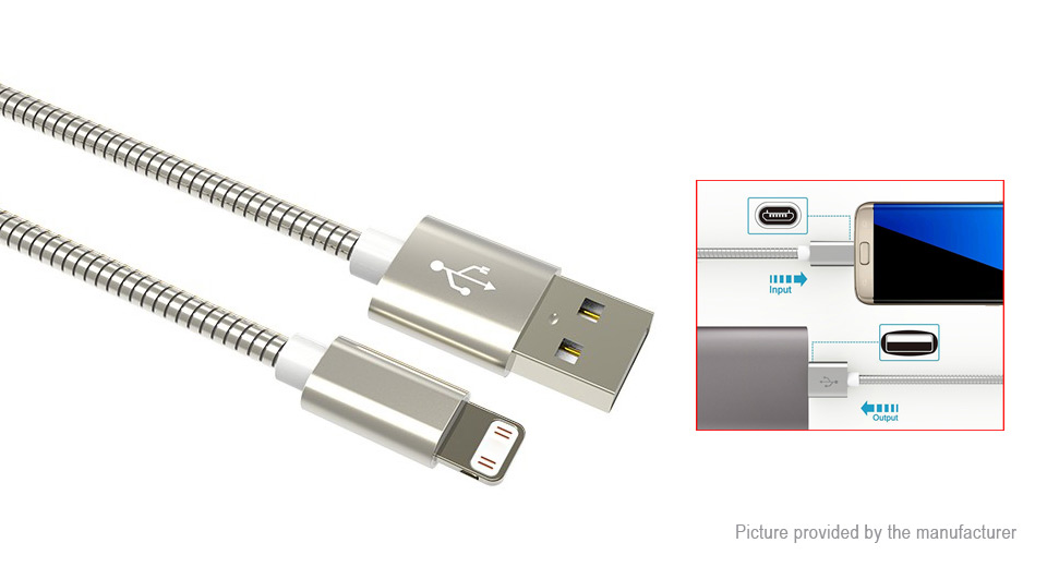 Product Image: 8-pin-to-usb-2-0-coiled-data-sync-charging-cable