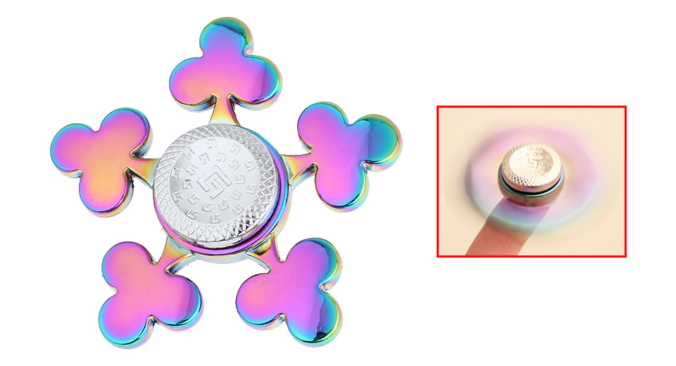 Clubs Styled EDC Hand Fidget Spinner Focus Toy
