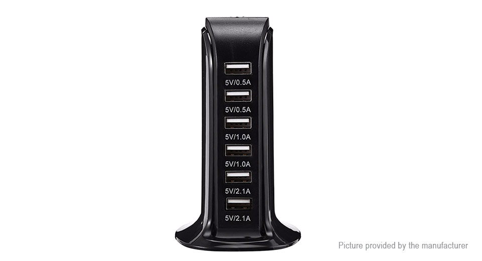 HSTRAOE T-6 Quick Charge 6-Port USB Charger AC Power Adapter (US)