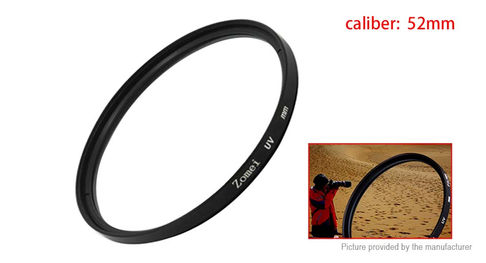 Zomei 52mm UV Filter Lens Protector for Camera