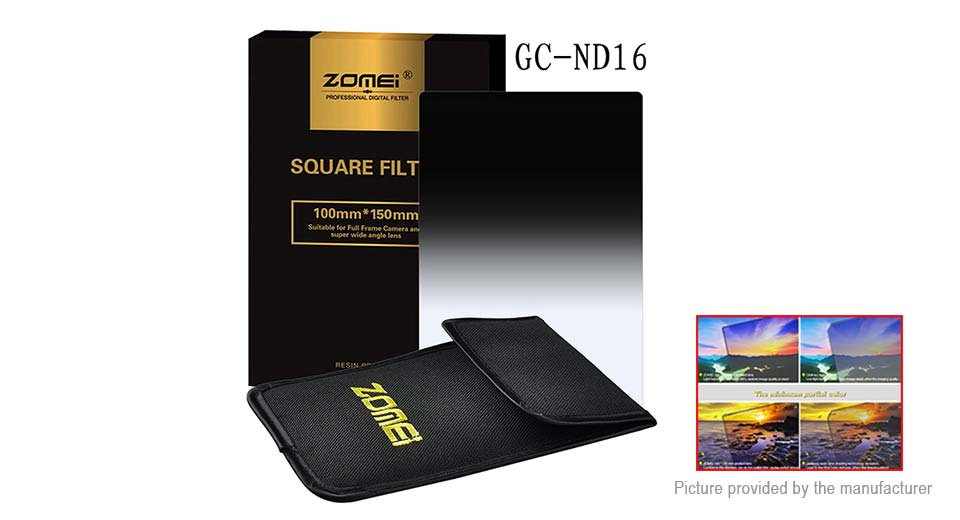 Zomei 2mm Gradual Grey Lens Filter Protector for Camera