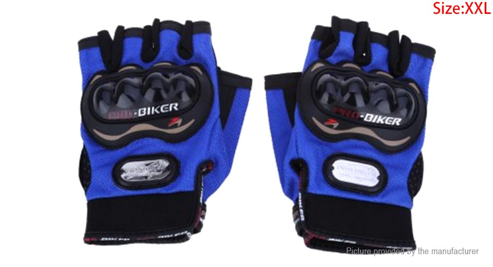 PRO-BIKER PRO01C Half Finger Motorcycle Skiing Racing Gloves (Size 2XL/Pair)