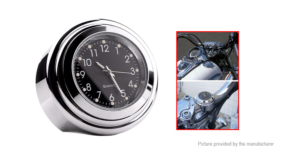 Universal Luminous Motorcycle Handlebar Mount Quartz Clock