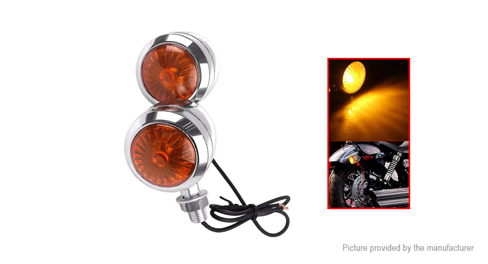 Universal Motorcycle LED Tail Brake Turn Signal Light (Pair)