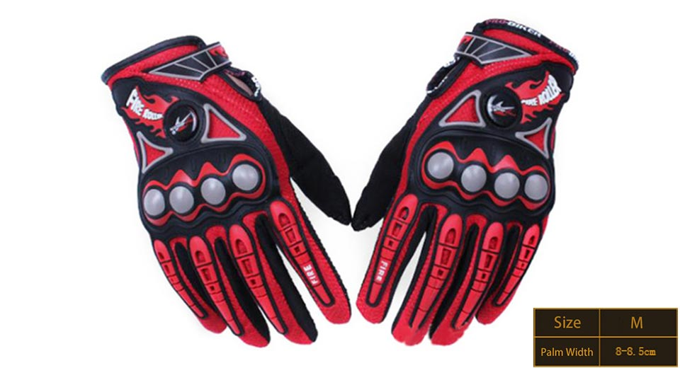 PRO-BIKER MCS23 Full Finger Motorcycle Skiing Racing Gloves (Size M/Pair)
