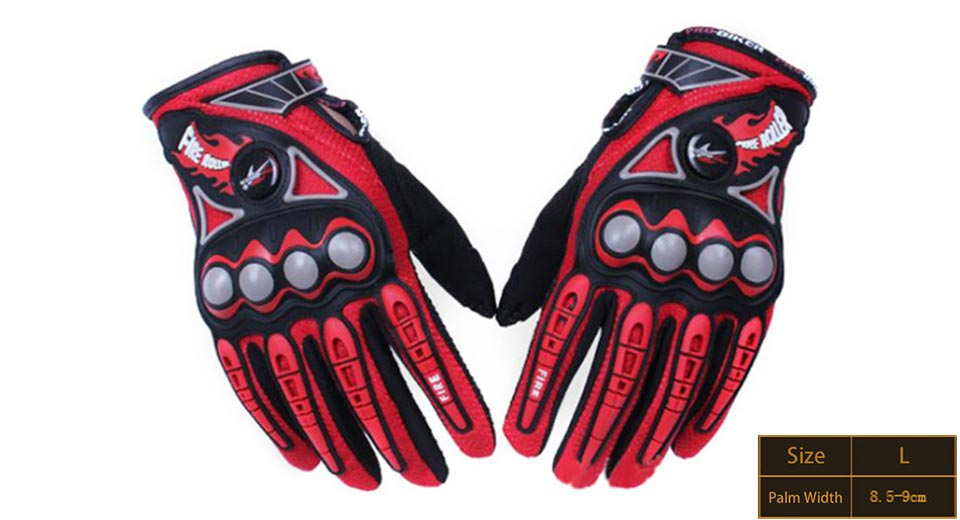 PRO-BIKER MCS23 Full Finger Motorcycle Skiing Racing Gloves (Size L/Pair)