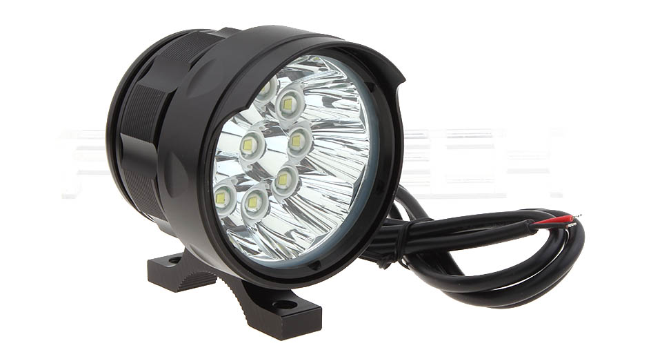 6W 10*LED 5-Mode 3500LM LED Motorcycle Scooter Headlamp Spotlight