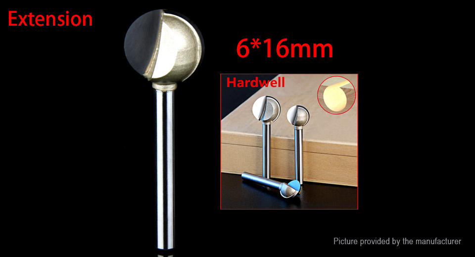 DIY Electronics 8229403 Extension Shank Tungsten Steel CNC End Milling Engraving Wood Ball Cutter