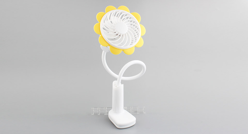 Sunflower Styled USB Rechargeable Flexible Clip-On Cooling Fan