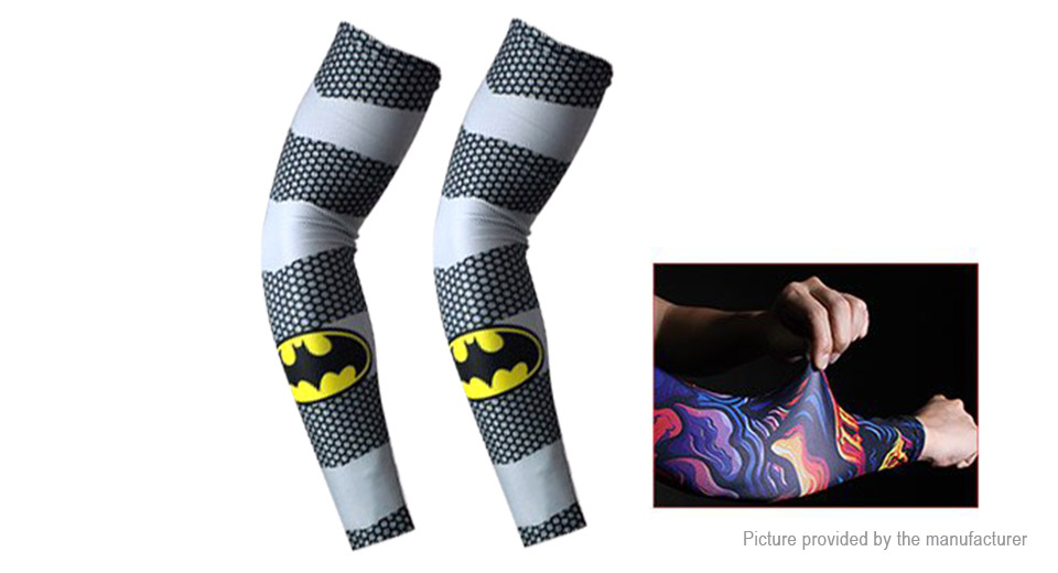 ZRCE Outdoor Sports Cycling UV Protection Arm Cooling Sleeves (Free Size/Pair)