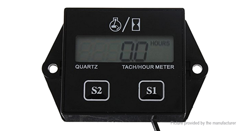 B707 Motorcycle LCD Display Digital Tachometer