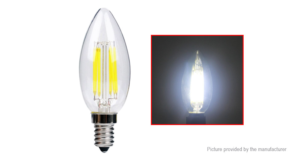 E14 6W 110LM Pure White Dimmable LED Filament Candle Light Bulb