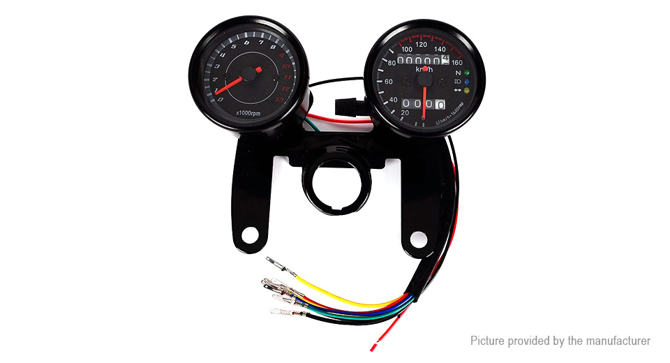 B733-Z Motorcycle LED Odometer Speedometer Gauge