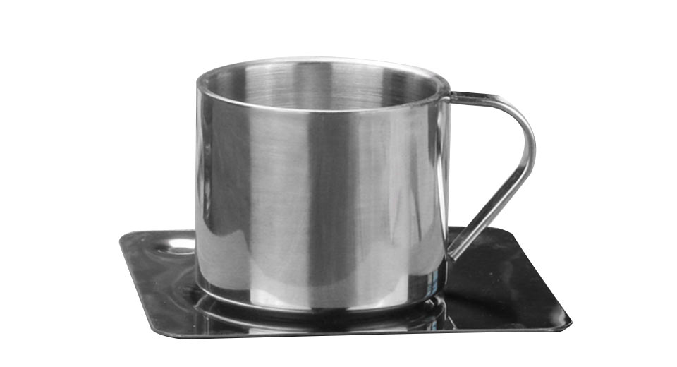 Stainless Steel Heat Insulation Coffee Cup Set
