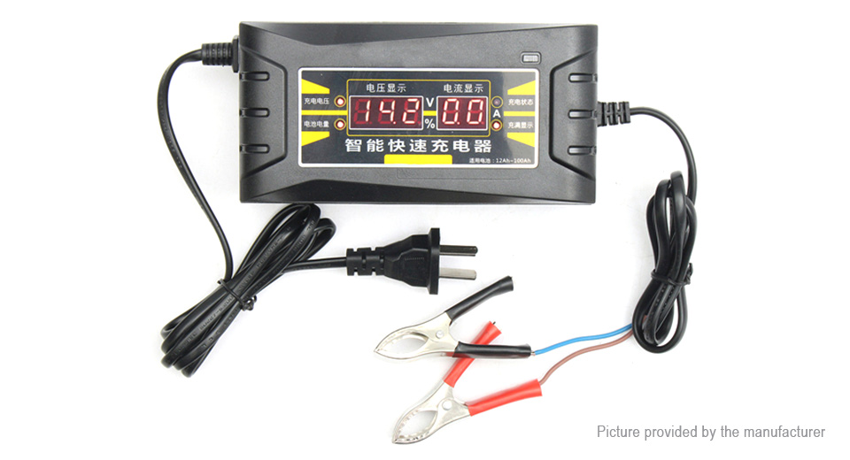 Suoer SON 1206D 12V 6A Smart Fast Battery Charger for Car Motorcycle (US)