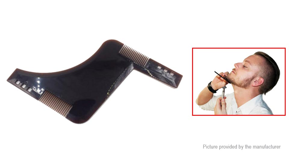 Image of Beard Grooming Shaping Trim Template Styling Comb
