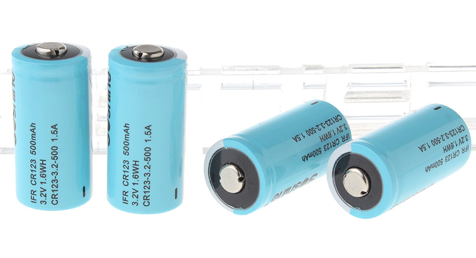 Product Image: soshine-cr123-3-2v-500mah-lithium-battery-4-pack