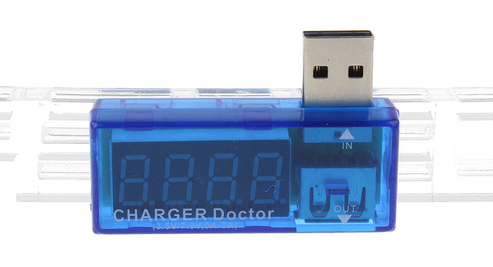 Image of 4-Digit Red Display USB Charging Voltage/Current Detector Tester