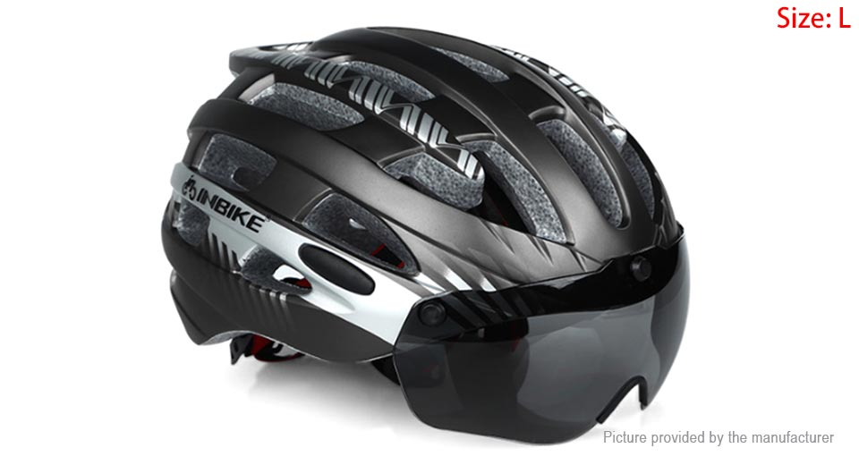 INBIKE Integrally Mountain Bicycle Cycling Goggles Helmet (Size L)