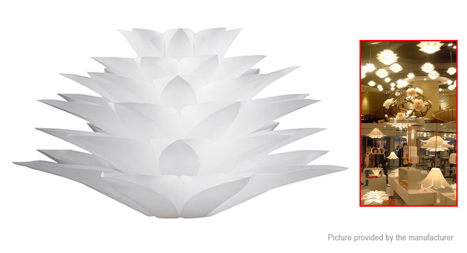 YouOKLight YK2224 E27 Lotus Shaped Chandelier Ceiling Pendant Lampshade