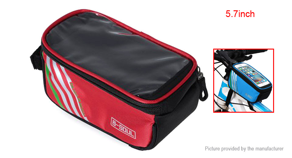 B-SOUL Bicycle Front Tube Frame Touch Screen Phone Bag
