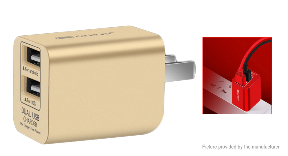 Earldom ES-162 Dual USB Wall Charger Power Adapter (US)