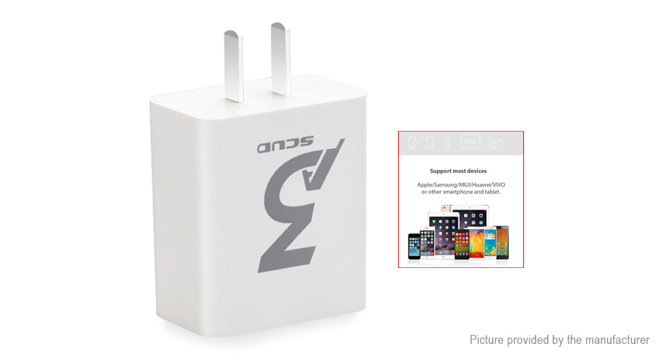 SCUD SC-U207 Dual USB Charger Power Adapter (US)