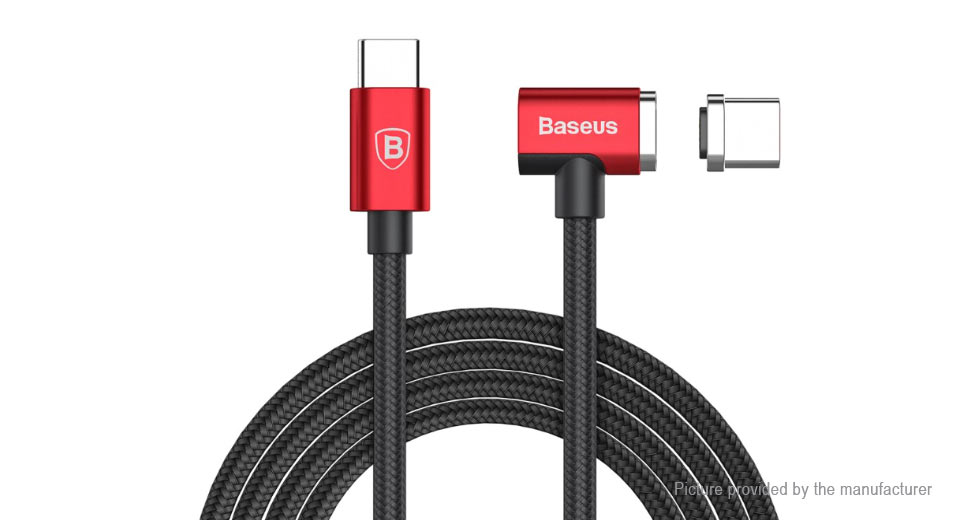 Baseus CX004 T-Head Magnetic USB Type C Data Sync / Charging Cable (1.5m) CX004, Black + Red, 1.5m