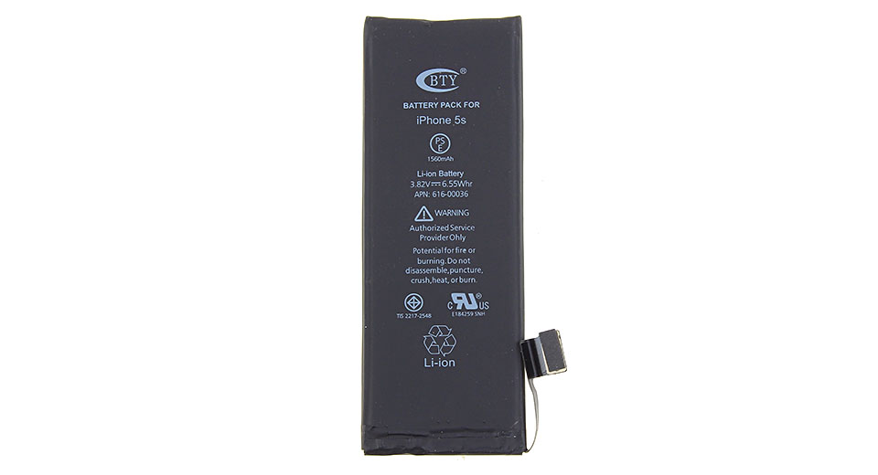 BTY 3.82V 1560mAh Rechargeable Li-ion Battery for iPhone 5s