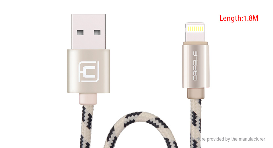 Product Image: cafele-8-pin-to-usb-2-0-braided-data-sync