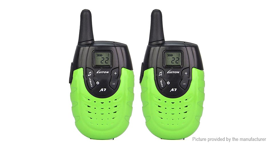 DIY Electronics 8581403 Luiton A7 Two-Way Radio Walkie Talkie Kids Toy (US/2-Pack)