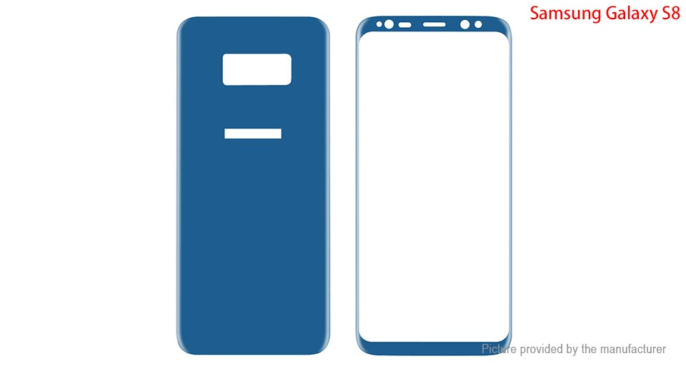Hat.Prince Front & Back Screen Protector for Samsung Galaxy S8