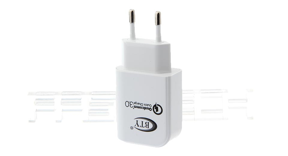 Authentic BTY M521F USB AC Charger Power Adapter, EU, M521F, 1*USB, 3A, EU, White