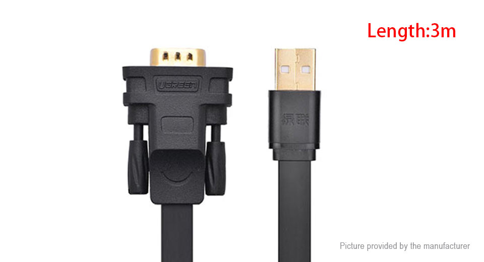 UGREEN USB to RS232 Serial 9-pin Adapter Cable (3m)