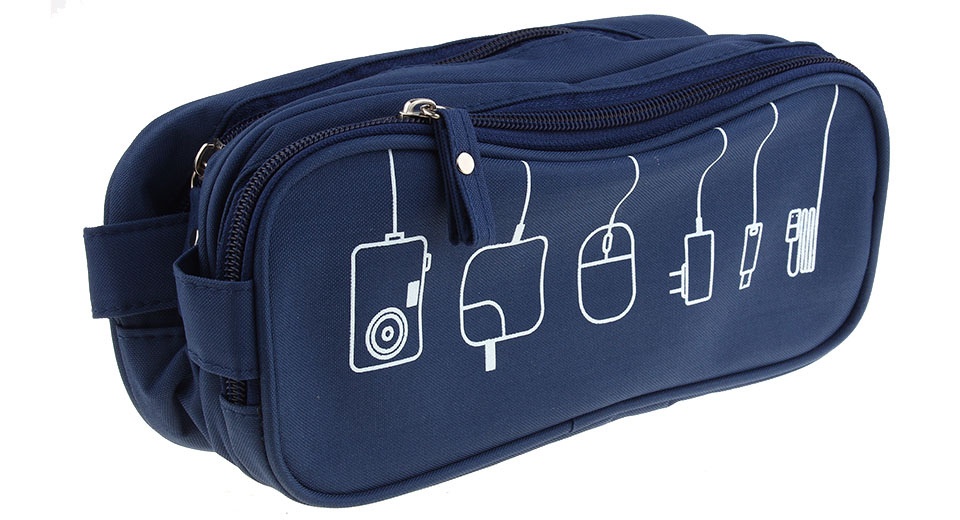 Travel Multifunction Storage Pouch Digital USB Cable Storage Bag