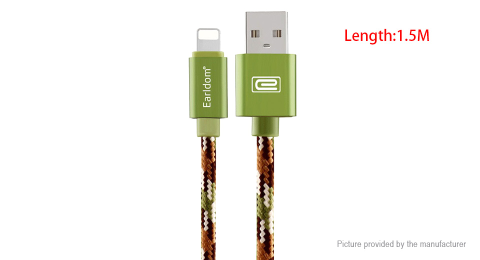 Product Image: earldom-8-pin-to-usb-2-0-nylon-braided-data-sync