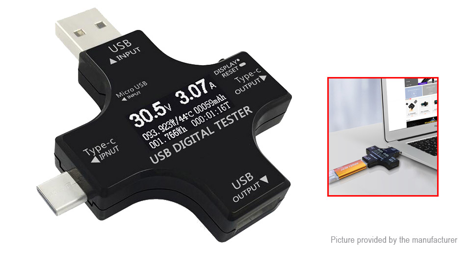 DIY Electronics 8640400 JuWei Multifunctional USB Type-C Safety Tester PD Power Tester Voltmeter Ammeter