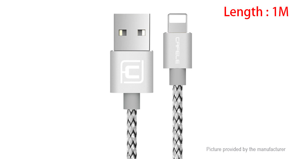 Product Image: cafele-8-pin-to-usb-2-0-nylon-braided-data-sync