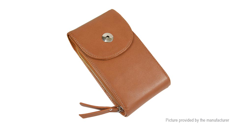 Image of Multifunctional Women PU Leather Crossbody Cell Phone Bag Wallet Case