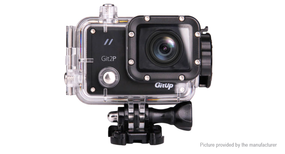 Authentic GitUp Git2P 2K Wifi Sports Action Camera, US, Git2P, US, Black