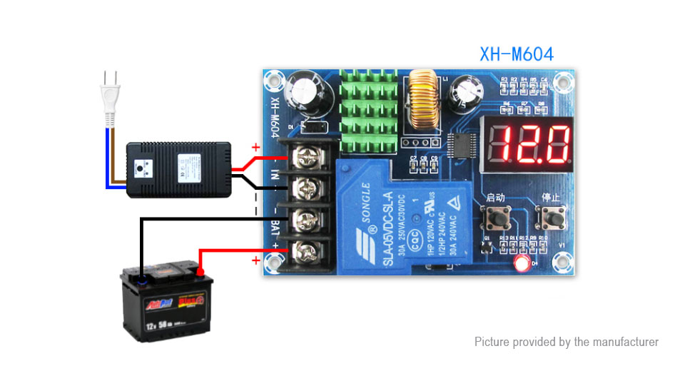 DIY Electronics 8721600 XH-M604 Storage Lithium Battery Charging Control Switch Protection Board