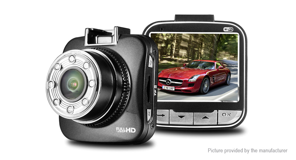 2 LCD 1080p HD Wifi Car DVR Camcorder