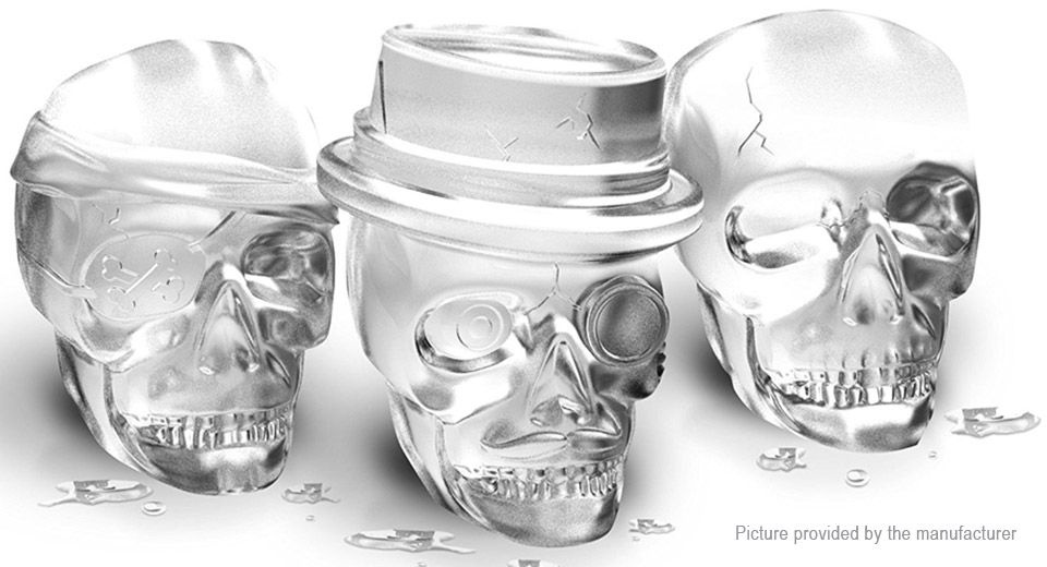 Skull Styled Ice Molds Halloween Party Spooky Cake Mold