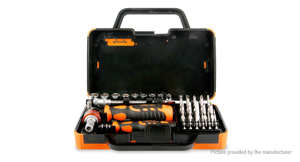DIY Electronics 8751400 JAKEMY JM-6121 Multi-Bit Screwdriver Kit (31 Pieces)