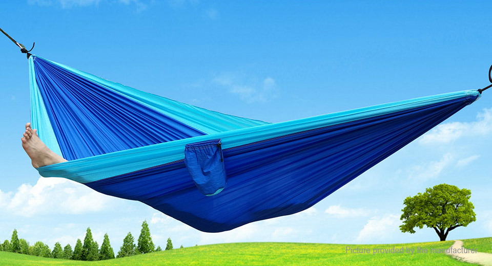 Outdoor Portable Camping Hammock Two Person Double Haning Swing Bed